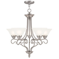Livex Coronado 5 Light Chandelier in Brushed Nickel 6115-91