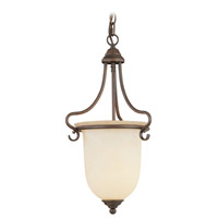 Livex Lighting Coronado 1 Light Foyer Pendant in Imperial Bronze 6116-58