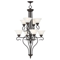 Coronado 8 Light 27 inch Bronze Foyer Chandelier Ceiling Light in White Alabaster