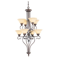 Livex 6118-58 Coronado 8 Light 27 inch Imperial Bronze Chandelier Ceiling Light in Vintage Scavo photo thumbnail