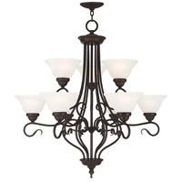Coronado 9 Light 31 inch Bronze Chandelier Ceiling Light in White Alabaster