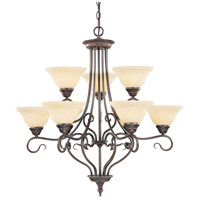 Coronado 9 Light 31 inch Imperial Bronze Chandelier Ceiling Light in Vintage Scavo