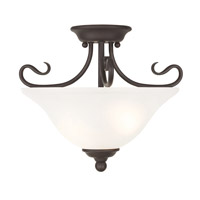 Livex Coronado 2 Light Flush Mount in Bronze 6121-07