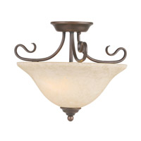 Coronado 2 Light 16 inch Imperial Bronze Ceiling Mount Ceiling Light in Vintage Scavo
