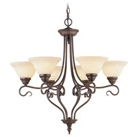 Livex 6126-58 Coronado 6 Light 29 inch Imperial Bronze Chandelier Ceiling Light in Vintage Scavo
