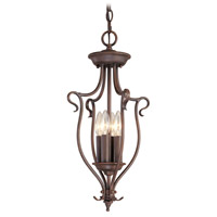 Livex Lighting Coronado 4 Light Foyer Pendant in Imperial Bronze 6127-58