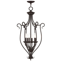 Livex Coronado 6 Light Foyer Chandelier in Bronze 6128-07