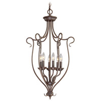 Livex Lighting Coronado 6 Light Foyer Pendant in Imperial Bronze 6128-58