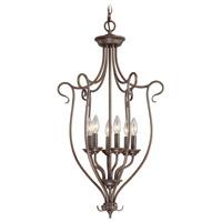 Livex 6128-58 Coronado 6 Light 11 inch Imperial Bronze Foyer Pendant Ceiling Light