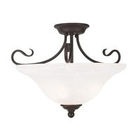 Livex Coronado 3 Light Flush Mount in Bronze 6130-07