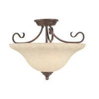 Livex Lighting Coronado 3 Light Ceiling Mount in Imperial Bronze 6130-58