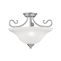 Livex Lighting Coronado 3 Light Ceiling Mount in Brushed Nickel 6130-91