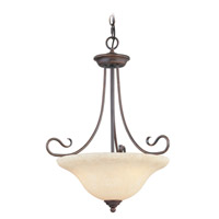 Livex Lighting Coronado 3 Light Inverted Pendant in Imperial Bronze 6131-58