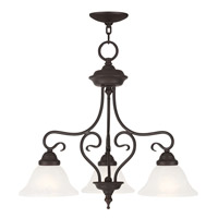 Livex Coronado 3 Light Dinette Chandelier Convertible in Bronze 6133-07
