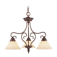 Livex Lighting Coronado 3 Light Chandelier in Imperial Bronze 6133-58