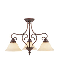 Livex 6133-58 Coronado 3 Light 24 inch Imperial Bronze Chandelier Ceiling Light in Vintage Scavo alternative photo thumbnail
