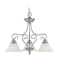 Coronado 3 Light 24 inch Brushed Nickel Chandelier Ceiling Light in White Alabaster