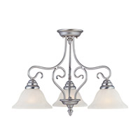 Livex Lighting Coronado 3 Light Chandelier in Brushed Nickel 6133-91 alternative photo thumbnail