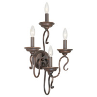 Livex Lighting Coronado 4 Light Wall Sconce in Imperial Bronze 6134-58