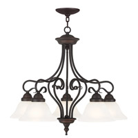 Coronado 5 Light 26 inch Bronze Dinette Chandelier Ceiling Light in White Alabaster