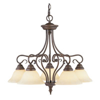 Livex 6135-58 Coronado 5 Light 26 inch Imperial Bronze Chandelier Ceiling Light in Vintage Scavo