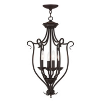 Livex Coronado 4 Light Foyer Chandelier in Bronze 6137-07