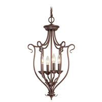 Livex Lighting Coronado 4 Light Foyer Pendant in Imperial Bronze 6137-58