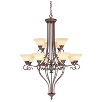 Livex Lighting Coronado 12 Light Chandelier in Imperial Bronze 6138-58