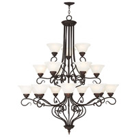Coronado 18 Light 45 inch Bronze Foyer Chandelier Ceiling Light in White Alabaster