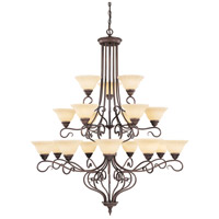 Livex Lighting Coronado 18 Light Chandelier in Imperial Bronze 6139-58