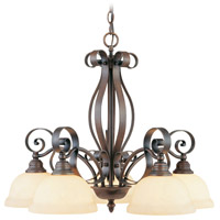 Livex Lighting Manchester 5 Light Chandelier in Imperial Bronze 6145-58