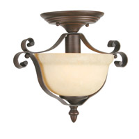 Livex Lighting Manchester 1 Light Semi-Flush Mount in Imperial Bronze 6148-58