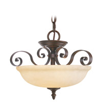 Livex Lighting Manchester 3 Light Pendant/Ceiling Mount in Imperial Bronze 6149-58