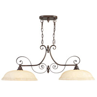 Livex 6152-58 Manchester 2 Light 41 inch Imperial Bronze Island Light Ceiling Light