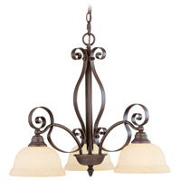 Livex 6153-58 Manchester 3 Light 25 inch Imperial Bronze Chandelier Ceiling Light