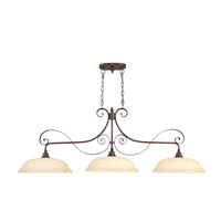 Livex Lighting Manchester 3 Light Island Light in Imperial Bronze 6154-58