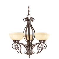 Livex Lighting Manchester 5 Light Chandelier in Imperial Bronze 6155-58