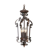 Livex Lighting Manchester 4 Light Foyer Pendant in Imperial Bronze 6157-58