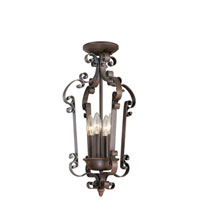 Livex Lighting Manchester 4 Light Foyer Pendant in Imperial Bronze 6157-58 alternative photo thumbnail