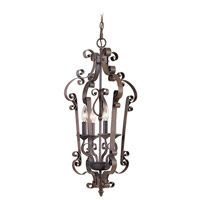 Livex Lighting Manchester 4 Light Foyer Pendant in Imperial Bronze 6158-58