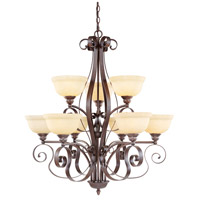 Livex Lighting Manchester 9 Light Chandelier in Imperial Bronze 6159-58