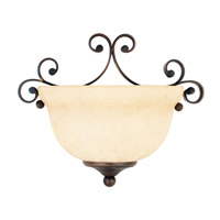 Livex Lighting Manchester 1 Light Wall Sconce in Imperial Bronze 6161-58