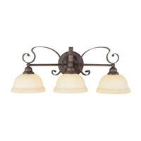 Livex Lighting Manchester 3 Light Bath Light in Imperial Bronze 6163-58