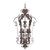 Livex Lighting Manchester 6 Light Foyer Pendant in Imperial Bronze 6164-58