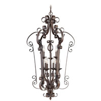 Livex Lighting Manchester 9 Light Foyer Pendant in Imperial Bronze 6165-58