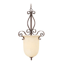 Livex Lighting Manchester 1 Light Foyer Pendant in Imperial Bronze 6167-58
