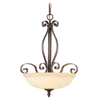 Livex Lighting Manchester 3 Light Inverted Pendant in Imperial Bronze 6168-58