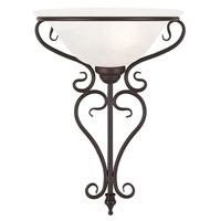 Coronado 1 Light 14 inch Bronze Wall Sconce Wall Light in White Alabaster