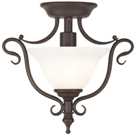 Coronado 1 Light 12 inch Bronze Flush Mount Ceiling Light in White Alabaster