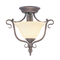 Livex Coronado 1 Light Ceiling Mount in Imperial Bronze 6186-58